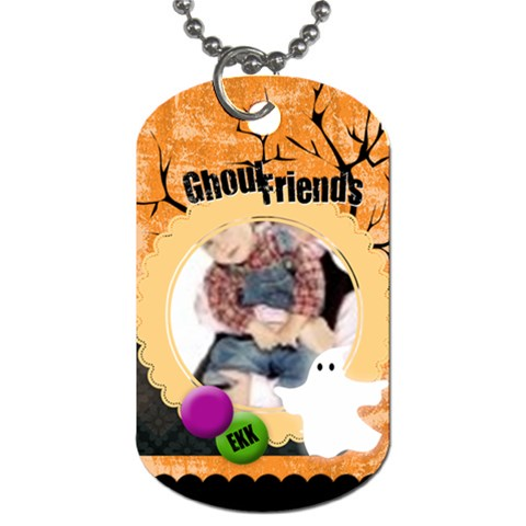 Halloween By Joely   Dog Tag (one Side)   Pt99smat05xg   Www Artscow Com Front