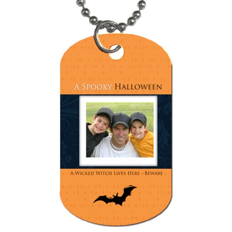 Halloween By Joely   Dog Tag (one Side)   W8usyaikqg8z   Www Artscow Com Front