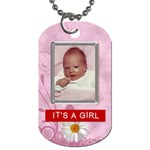 Its a Girl 2-Sided Dog Tag - Dog Tag (Two Sides)