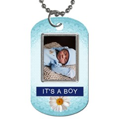 Its A Boy 2 Sided Dog Tag By Lil    Dog Tag (two Sides)   P2ck4nuyv5gw   Www Artscow Com Front
