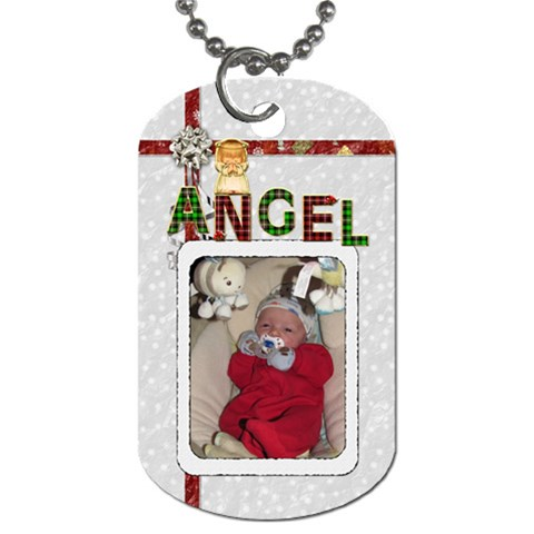 Angel 1 Sided Dog Tag By Lil    Dog Tag (one Side)   3i92v1hogfju   Www Artscow Com Front