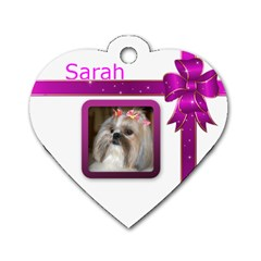 School Or Key Heart Dog Tag (2 Sided) By Deborah   Dog Tag Heart (two Sides)   Hphy3sjorno1   Www Artscow Com Front