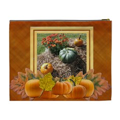 Pumpkin Delight Xl Cosmetic Bag By Lil    Cosmetic Bag (xl)   Y77fdnw3j3hm   Www Artscow Com Back