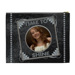 Time To Shine Xl Cosmetic Bag By Lil    Cosmetic Bag (xl)   Wt6dobzfzfu0   Www Artscow Com Back