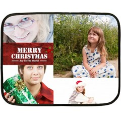 Christmas By May   Double Sided Fleece Blanket (mini)   Ca1c2rbqworg   Www Artscow Com 35 x27 Blanket Back