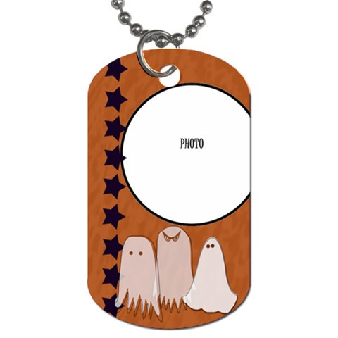 Ghost Tag By Amanda Bunn By Amanda Bunn   Dog Tag (one Side)   2y233i4mo1ng   Www Artscow Com Front