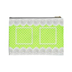 Lime And Lace Large Cosmetic Bag By Deborah   Cosmetic Bag (large)   Pa6tqysccpmk   Www Artscow Com Back