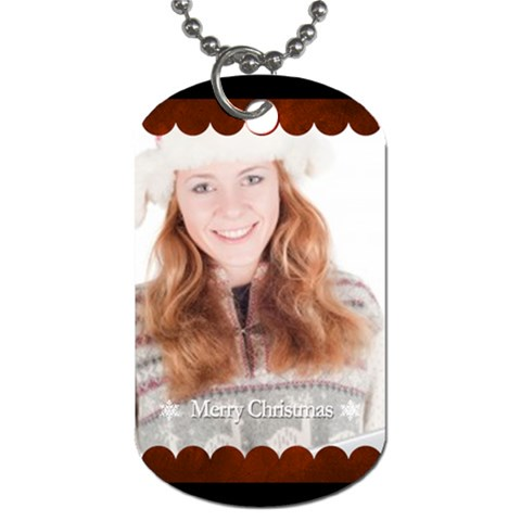Merry Christmas By May   Dog Tag (one Side)   Mpd2wubdbctv   Www Artscow Com Front