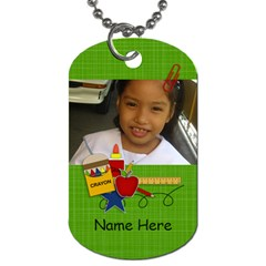 Dog Tag (two Sides): Back To School1 By Jennyl   Dog Tag (two Sides)   Yb8e1wsmndu2   Www Artscow Com Front