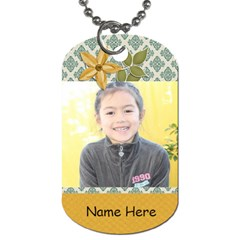 Dog Tag (two Sides): Simple Joys2 By Jennyl   Dog Tag (two Sides)   Qx1lso1wt9a1   Www Artscow Com Front