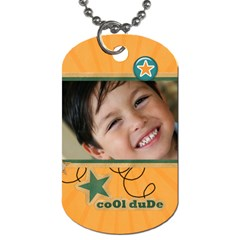 Dog Tag (two Sides): Cool Dude By Jennyl   Dog Tag (two Sides)   2kxrt83qif7o   Www Artscow Com Front