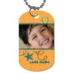 Dog Tag (two Sides): Cool Dude By Jennyl   Dog Tag (two Sides)   2kxrt83qif7o   Www Artscow Com Back