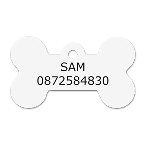 Sam By Aoifanna Phibbs Minchin   Dog Tag Bone (one Side)   Sa53m450r0e5   Www Artscow Com Front