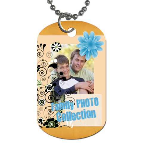 Family By Joely   Dog Tag (one Side)   1o8vvfi6tiyp   Www Artscow Com Front