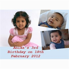 Anika s Birthday By Bhumi   5  X 7  Photo Cards   K2lqfvk4r8cl   Www Artscow Com 7 x5  Photo Card - 1