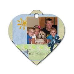 All Kids By Nancy    Dog Tag Heart (two Sides)   4wdcou9zs3nv   Www Artscow Com Front