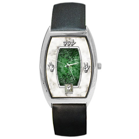 American Sign Language   Green By Timm Miller   Barrel Style Metal Watch   Rf6a1wd0wuv8   Www Artscow Com Front