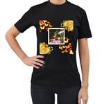Butterfly Black T shirt - Women s Black T-Shirt