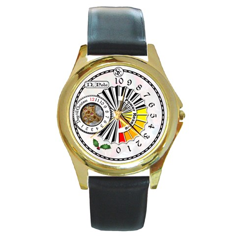 The Santa Clause Watch By Timm Miller   Round Gold Metal Watch   4b19exh7sqy3   Www Artscow Com Front