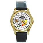 The Santa Clause watch - Round Gold Metal Watch