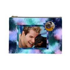 Bloke Large Cosmetic Bag 1 By Deborah   Cosmetic Bag (large)   0i5kz3f9d19h   Www Artscow Com Front