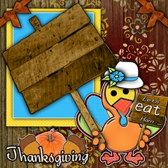 Thanksgiving ScrapBook Page 12  x 12  by iiwriteA