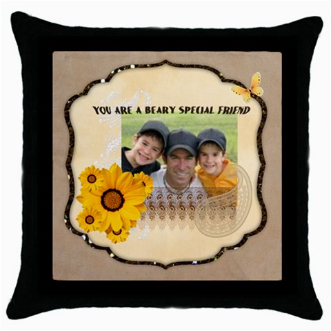 Friendship By Joely   Throw Pillow Case (black)   Elhx4jhk4m93   Www Artscow Com Front