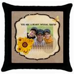 friendship - Throw Pillow Case (Black)