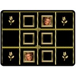 Black and Gold XL Blanket - Fleece Blanket (Large)