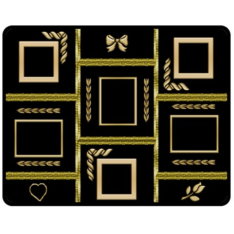 Black And Gold Medium Blanket By Deborah   Fleece Blanket (medium)   5mugks1b6aun   Www Artscow Com 60 x50  Blanket Front