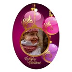 Christmas Oval Ornament 2 (2 sided) - Oval Ornament (Two Sides)