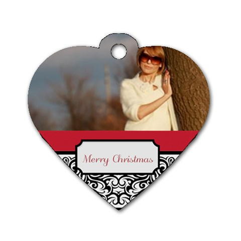 Xmas By May   Dog Tag Heart (one Side)   Cfp4iav6knqm   Www Artscow Com Front