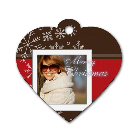 Xmas By May   Dog Tag Heart (one Side)   Ywdgf0mk5kfx   Www Artscow Com Front