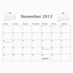 Edited Calendar For Mom By Julie Severin   Wall Calendar 11  X 8 5  (18 Months)   L3mfeqrqfwno   Www Artscow Com Nov 2012