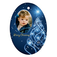 Christmas Oval Ornament 3 (2 Sided) By Deborah   Oval Ornament (two Sides)   Ublt644f8w91   Www Artscow Com Front