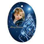 Christmas Oval Ornament 3 (2 sided) - Oval Ornament (Two Sides)