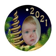 Christmas Round Ornament 1 (2 Sided) By Deborah   Round Ornament (two Sides)   9clj34a94goi   Www Artscow Com Front