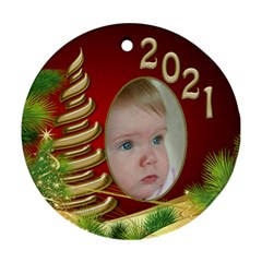 Christmas Round Ornament 1 (2 Sided) By Deborah   Round Ornament (two Sides)   9clj34a94goi   Www Artscow Com Back