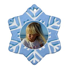 Blue Snowflake Ornament (2 Sided) By Deborah   Snowflake Ornament (two Sides)   Jdyu2u490bm5   Www Artscow Com Front