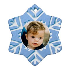 Blue Snowflake Ornament (2 Sided) By Deborah   Snowflake Ornament (two Sides)   Jdyu2u490bm5   Www Artscow Com Back