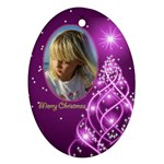 Christmas Oval Ornament 4 (2 sided) - Oval Ornament (Two Sides)