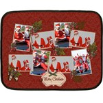 Mini Fleece Blanket - Merry Christmas - Fleece Blanket (Mini)