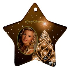 Golden Christmas Star Ornament (2 Sided) By Deborah   Star Ornament (two Sides)   2xvndz1dk9mb   Www Artscow Com Front
