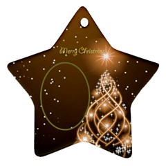 Golden Christmas Star Ornament (2 Sided) By Deborah   Star Ornament (two Sides)   2xvndz1dk9mb   Www Artscow Com Back