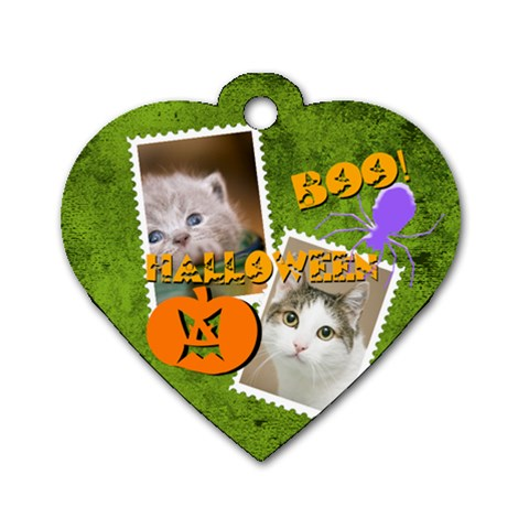 Halloween Pet By Joely   Dog Tag Heart (one Side)   Y20k86ufv78a   Www Artscow Com Front