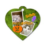 halloween pet - Dog Tag Heart (One Side)