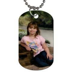 First Grandkids By Shirley   Dog Tag (two Sides)   Isvfc7z9a0el   Www Artscow Com Front