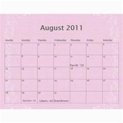 Calender Expirment By Charis Balyeat   Wall Calendar 11  X 8 5  (18 Months)   Cj0ifc1ql985   Www Artscow Com Aug 2011