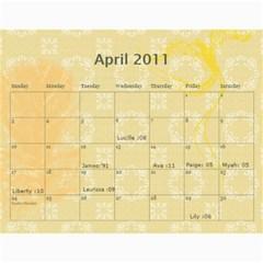 Calender Expirment By Charis Balyeat   Wall Calendar 11  X 8 5  (18 Months)   Cj0ifc1ql985   Www Artscow Com Apr 2011