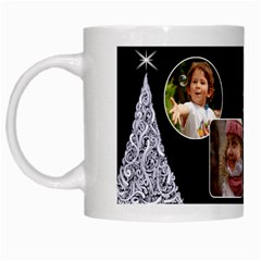 Black And White Christmas Mug By Deborah   White Mug   Vkx0tzowxcsk   Www Artscow Com Left